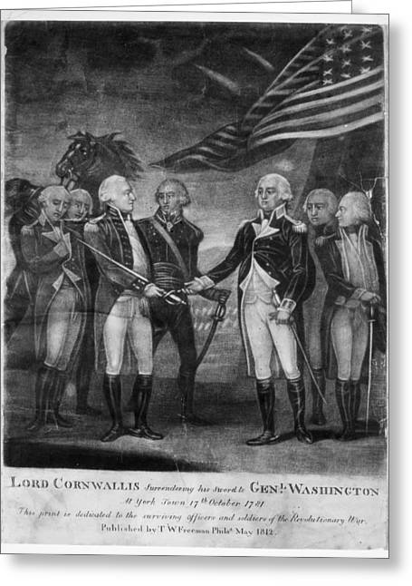 Continental Army Victory Greeting Cards - Yorktown Surrender, 1781 Greeting Card by Granger
