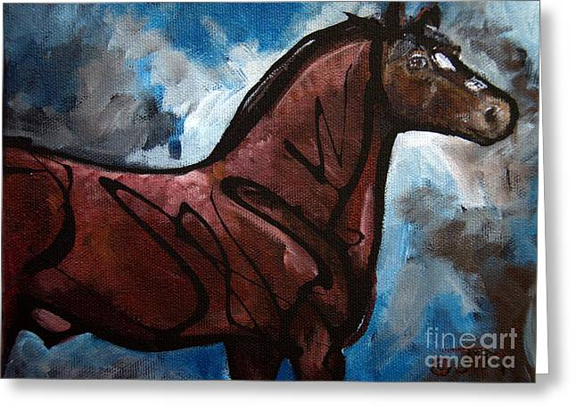 Paso Fino Stallion Greeting Cards - #50 July 11th Greeting Card by Jonelle T McCoy