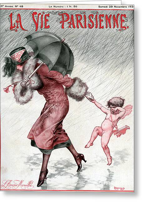 WomenÕs Drawings Greeting Cards - La Vie Parisienne 1924 1920s France Greeting Card by The Advertising Archives