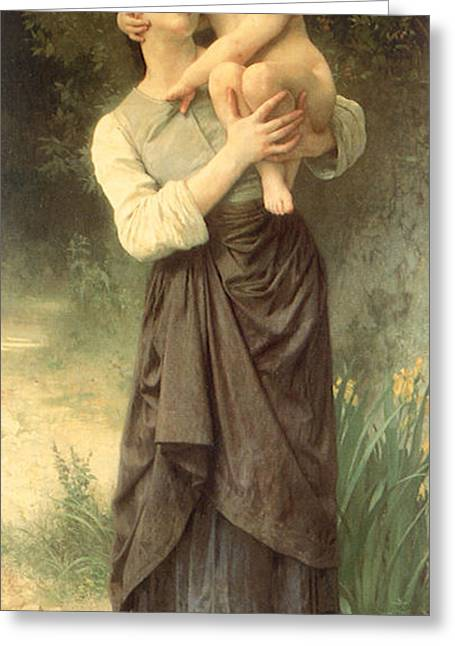 Peasant Skirt Greeting Cards - Victorian art piece Greeting Card by Indian Summer
