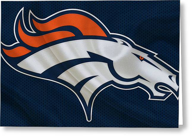 Offense Greeting Cards - Denver Broncos Greeting Card by Joe Hamilton