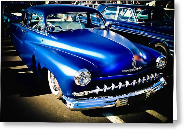 Blue Ford Greeting Cards - 52 Ford Mercury Greeting Card by Phil
