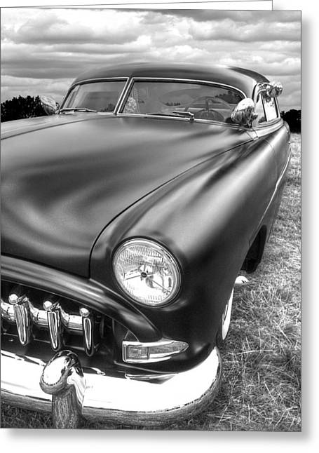 Slammer Greeting Cards - 52 Hudson Pacemaker Coupe Vertical Greeting Card by Gill Billington