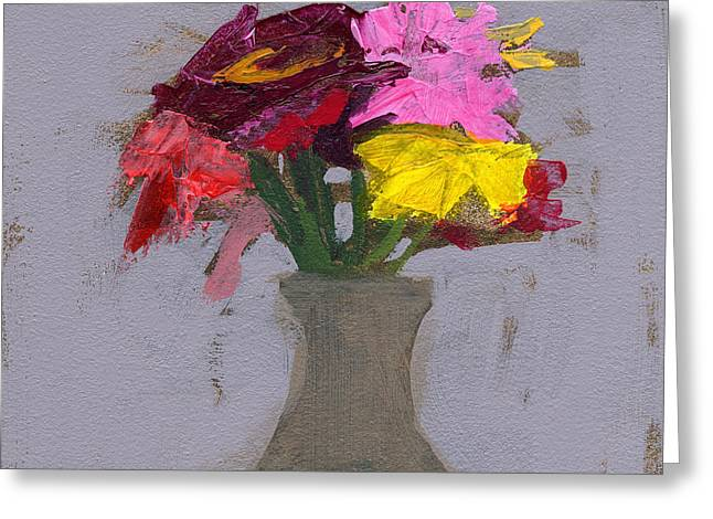 Glass Vase Paintings Greeting Cards - RCNpaintings.com Greeting Card by Chris N Rohrbach