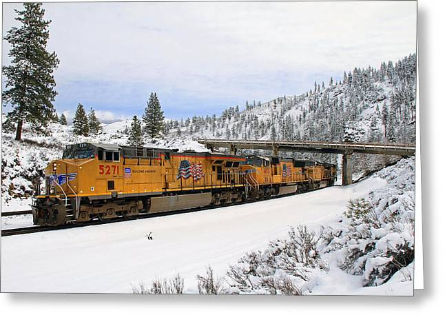 Union Pacific Greeting Cards - 5271 Westbound Greeting Card by Donna Kennedy