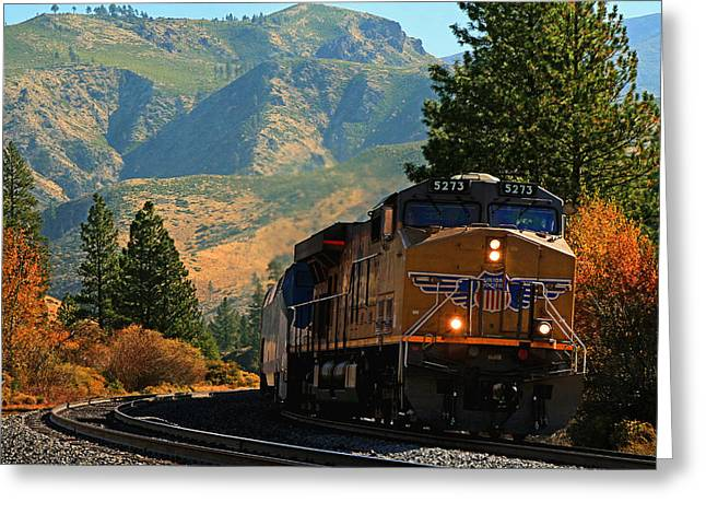 Diesel Locomotives Greeting Cards - 5273 Greeting Card by Donna Kennedy