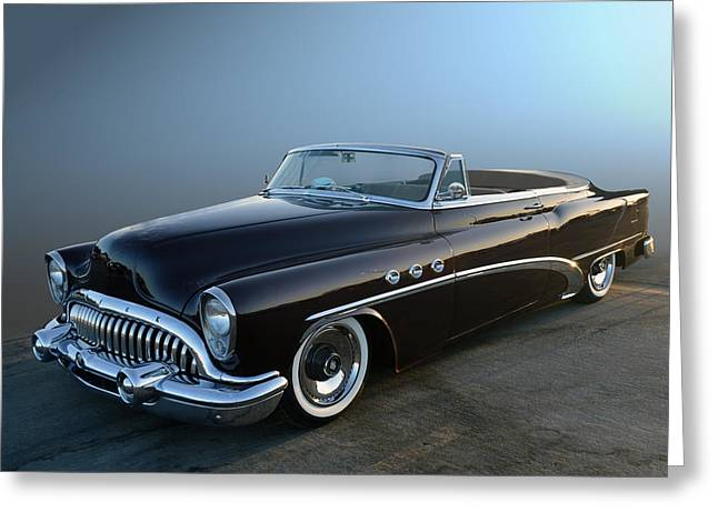 Cruisin For A Cure Greeting Cards - 53 Buick cv Greeting Card by Bill Dutting