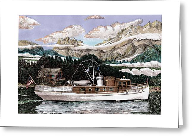 53 Foot Classic Yacht North To Alaska Greeting Card by Jack Pumphrey