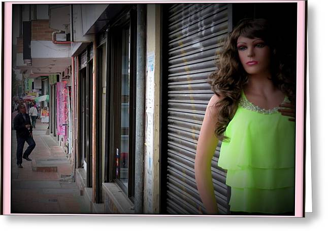 Rag Lady Greeting Cards - 53 Street Mannequin   Greeting Card by Daniel Gomez