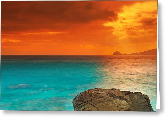 Sunrise. Water Greeting Cards - Sunrise Greeting Card by MotHaiBaPhoto Prints