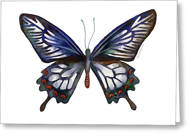 Ceylon Greeting Cards - 54 Ceylon Rose Butterfly Greeting Card by Amy Kirkpatrick