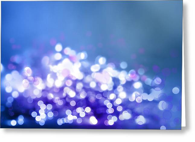 Soft Light Digital Art Greeting Cards - Abstract background Greeting Card by Les Cunliffe