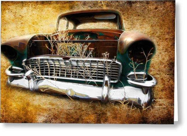 Graffitti Coupe Greeting Cards - 55 Chevy Greeting Card by Steve McKinzie