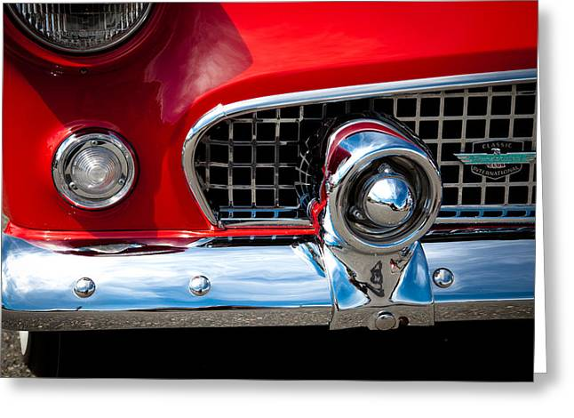 Radiator Badge Greeting Cards - 55 Ford Thunderbird Greeting Card by David Patterson