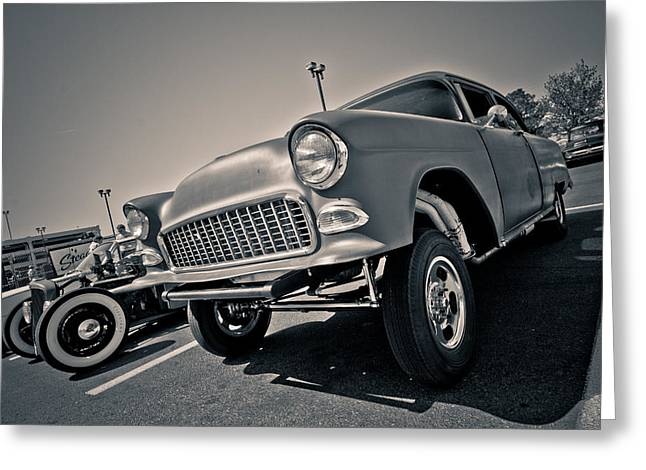 Kustom Greeting Cards - 55 Gasser Greeting Card by Merrick Imagery