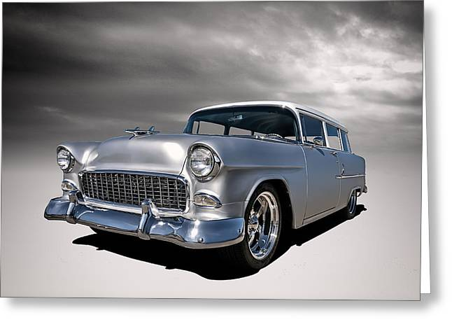 Vintage Hood Ornament Greeting Cards - 55 Handyman Wagon Greeting Card by Douglas Pittman