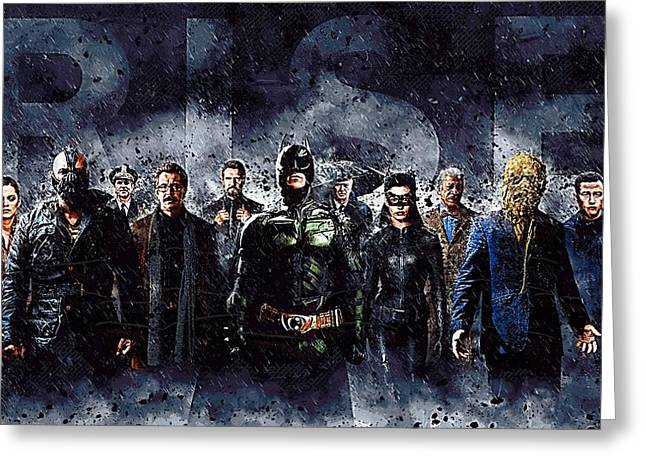 Batman Greeting Cards - The Dark Knight Rises Greeting Card by Victor Gladkiy