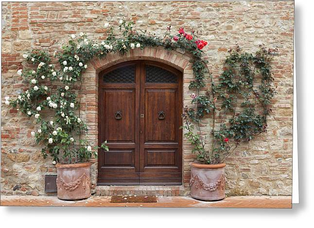 Pienza Greeting Cards - Tuscany Greeting Card by Joana Kruse