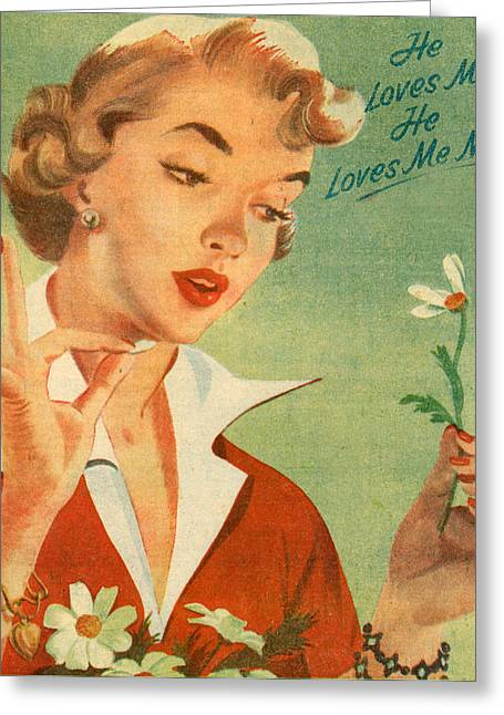 1950s Portraits Greeting Cards - 1950s Uk Illustrations Magazine Plate Greeting Card by The Advertising Archives