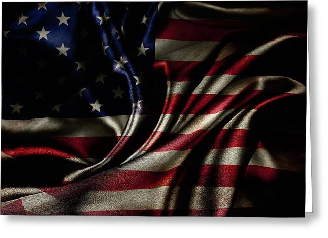 American Pride Greeting Cards - American flag  Greeting Card by Les Cunliffe