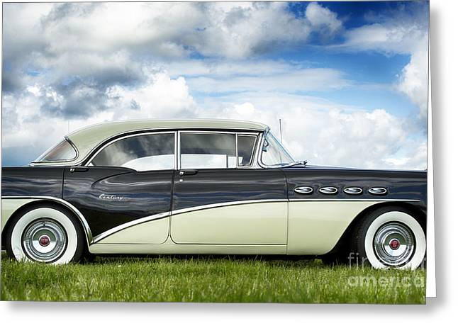 Custom Buick Greeting Cards - 56 Buick Century Riviera HDR Greeting Card by Tim Gainey