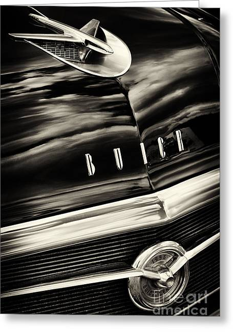Custom Buick Greeting Cards - 56 Buick Century Riviera  Greeting Card by Tim Gainey