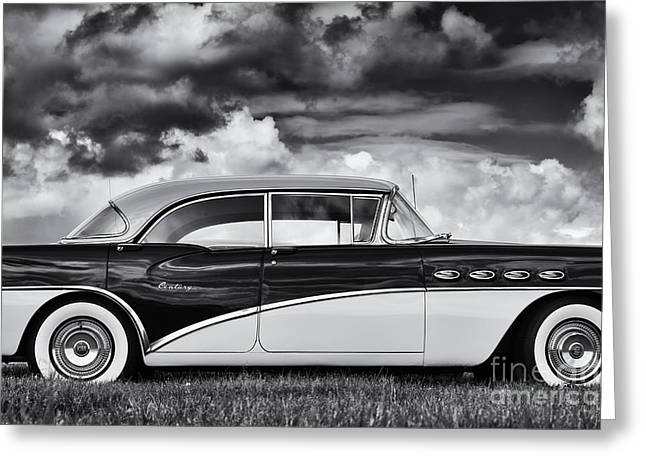 Tyre Greeting Cards - 56 Buick Two Tone Greeting Card by Tim Gainey