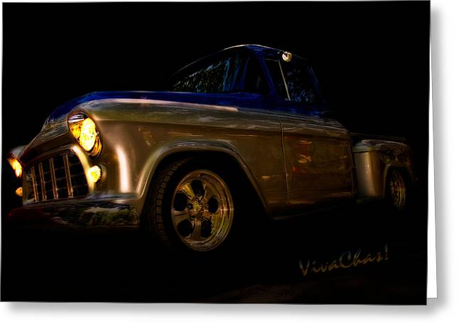 56 Chevy Pickup Greeting Cards - 56 Chevy Pickup an its a Baad One Greeting Card by Chas Sinklier