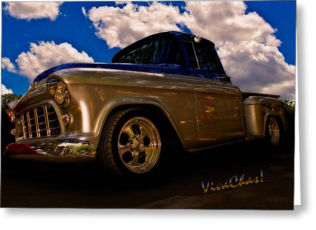 56 Chevy Pickup Greeting Cards - 56 Chevy Pickup B4 Sundown Greeting Card by Chas Sinklier