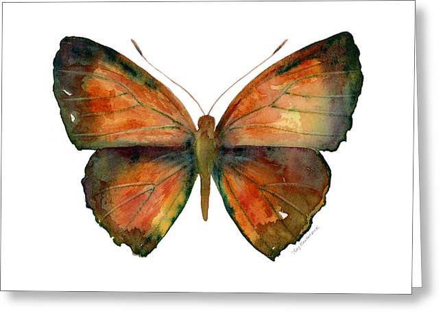 Copper Greeting Cards - 56 Copper Jewel Butterfly Greeting Card by Amy Kirkpatrick