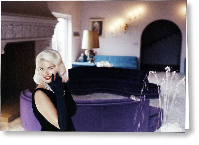 Jayne Mansfield Greeting Cards - Jayne Mansfield Greeting Card by Silver Screen