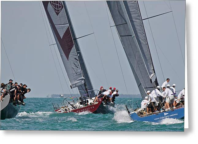 Tp52 Greeting Cards - Key West Race Week Greeting Card by Steven Lapkin