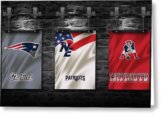 Patriots Greeting Cards - New England Patriots Greeting Card by Joe Hamilton