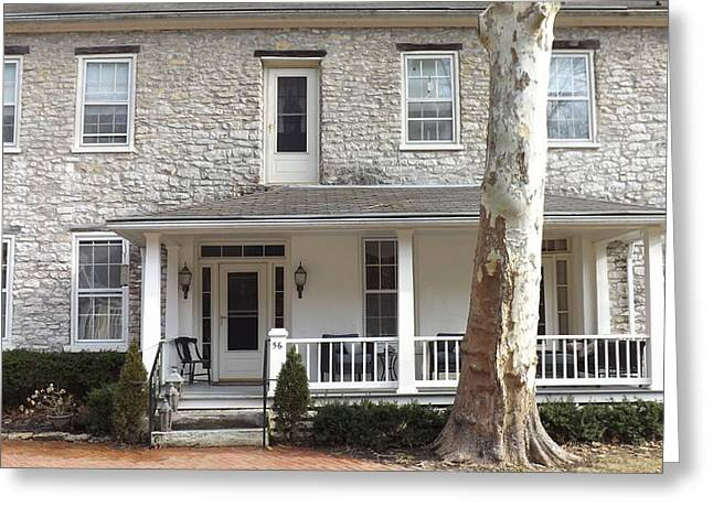 Historic Home Mixed Media Greeting Cards - 56 Plantation Row Greeting Card by Don Koester