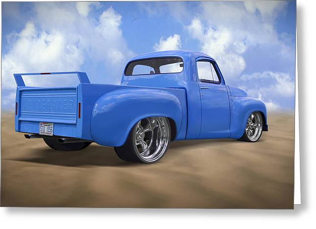 56 Studebaker Truck Greeting Card by Mike McGlothlen