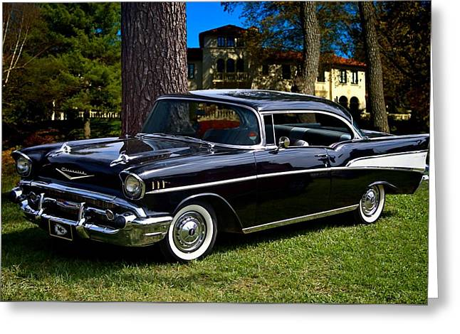 Teemack Greeting Cards - 57 Chevy  Greeting Card by Tim McCullough