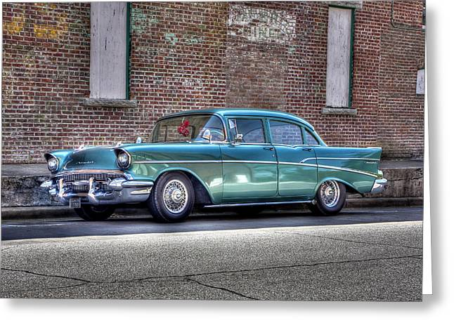 '57 Chevy Greeting Card by Tony  Colvin