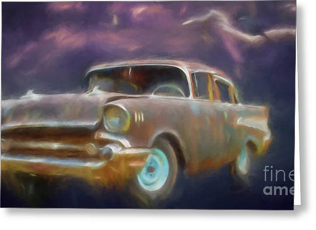 Collector Hood Ornament Greeting Cards - 57 Classic Greeting Card by Jim  Hatch