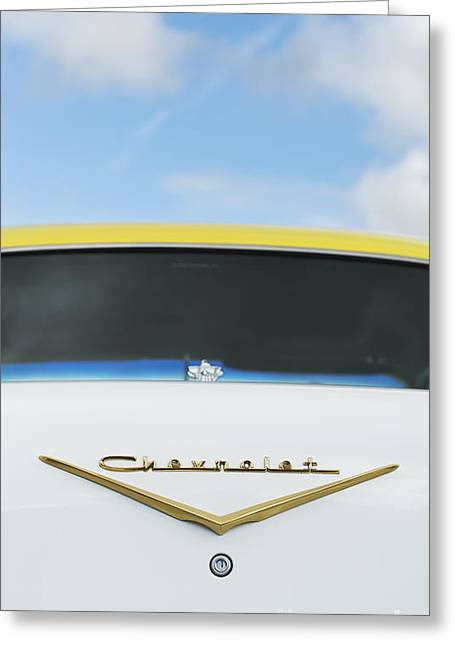 Chevrolet Trunk Greeting Cards - 57 Cool Greeting Card by Tim Gainey