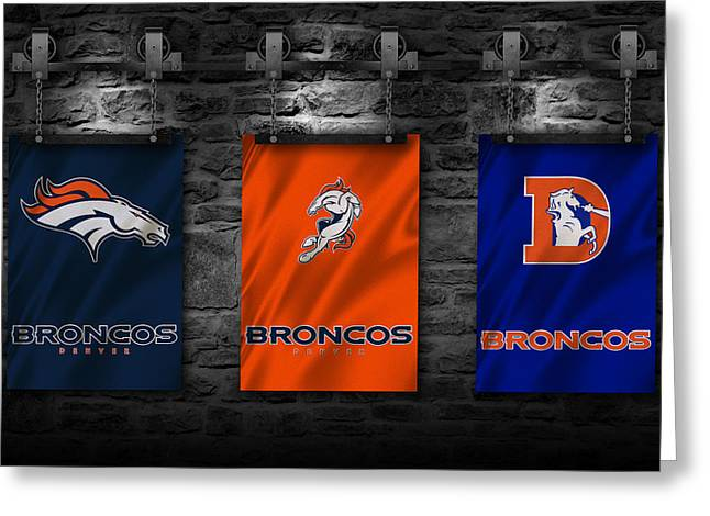 Player Photographs Greeting Cards - Denver Broncos Greeting Card by Joe Hamilton