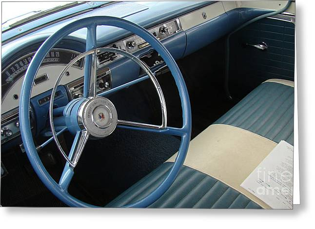 Henry Mixed Media Greeting Cards - 57 FORD Interior Greeting Card by Beverly Guilliams