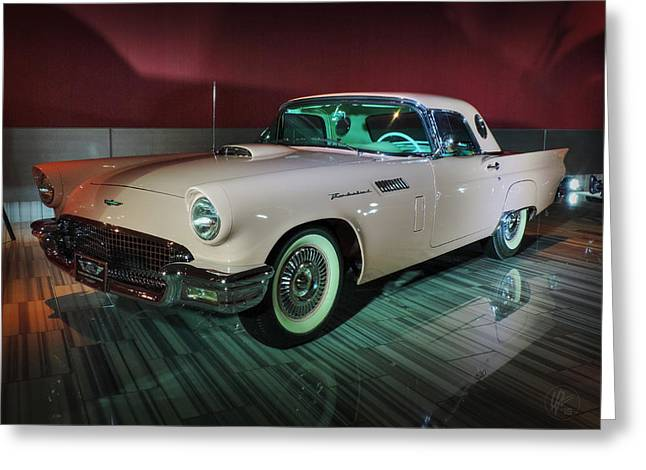 '57 Ford Thunderbird 001 Greeting Card by Lance Vaughn