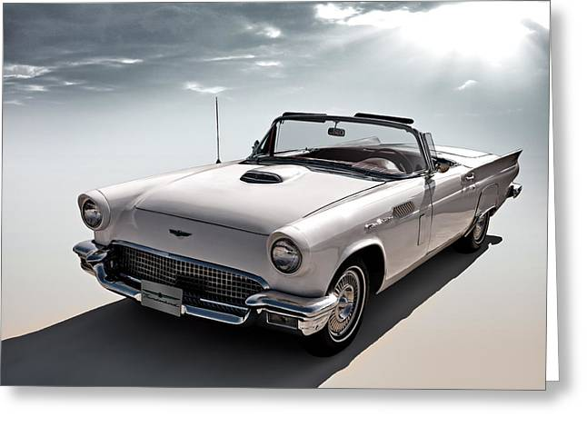 Garage Greeting Cards - 57 T-Bird Greeting Card by Douglas Pittman