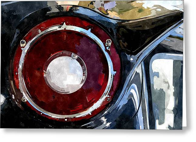 57 T-bird Greeting Card by Duende Artworks
