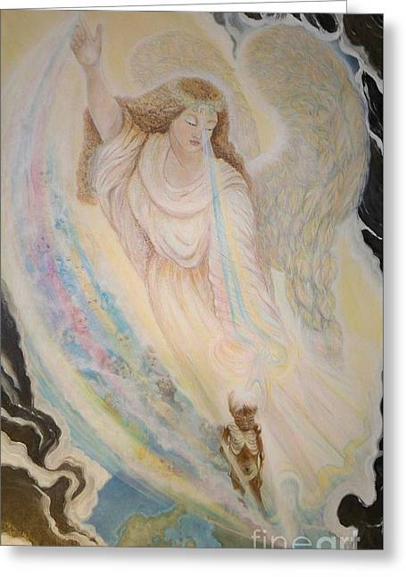 Helpful Greeting Cards - 57ac. Angel of Mercy Greeting Card by Sigrid Tune