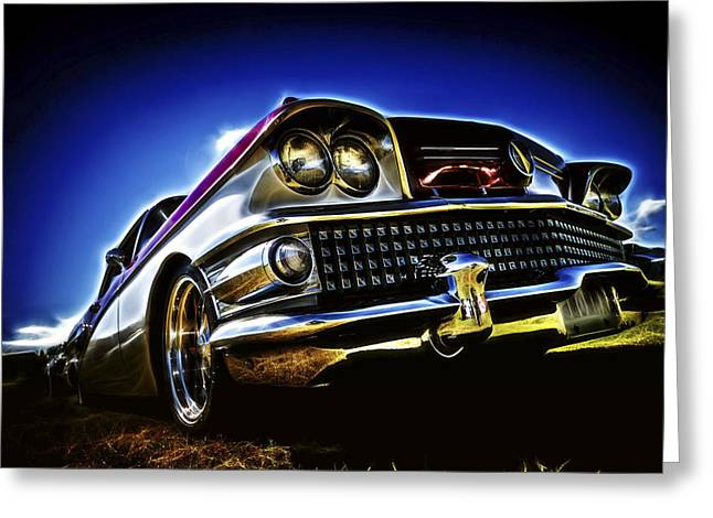 Phil Motography Clark Photographs Greeting Cards - 58 Buick Special Greeting Card by motography aka Phil Clark