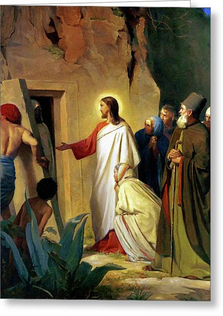 Religious Art Paintings Greeting Cards - Jesus Greeting Card by Victor Gladkiy