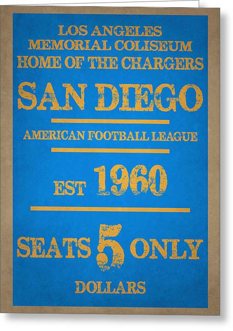 San Diego Chargers Greeting Cards - San Diego Chargers Greeting Card by Joe Hamilton
