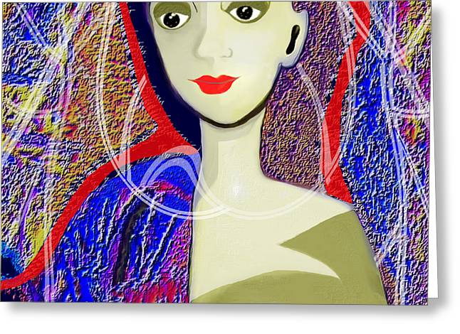 Irmgard Greeting Cards - 597 - Pearl White Lady Greeting Card by Irmgard Schoendorf Welch