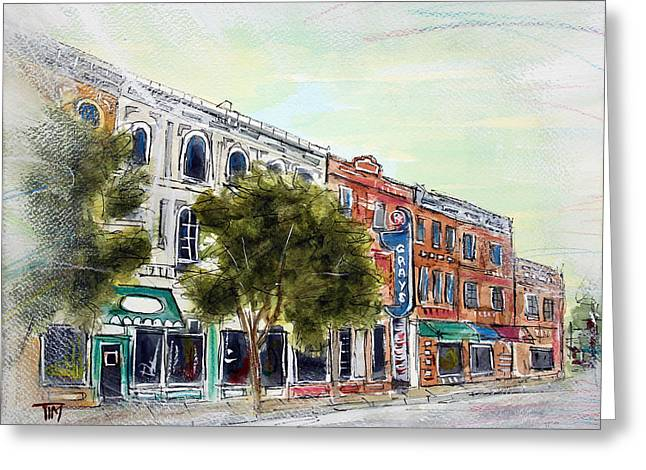 Historic Franklin Tennessee Greeting Cards - 5am in Franklin Greeting Card by Tim Ross